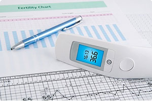 fertility chart and thermometer are tools used in conjunction with acupuncture, herbs and lifestyle advice